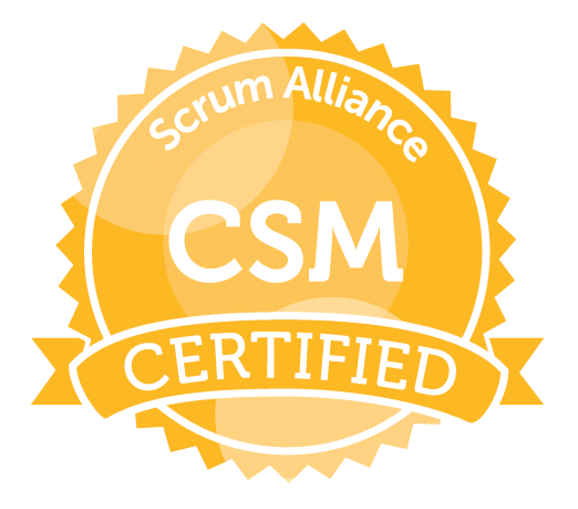 Certified ScrumMaster® (CSM) [Virtual Learning] badge