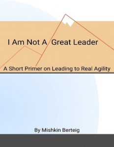 I Am Not A Great Leader - A Short Primer on Leading to Real Agility