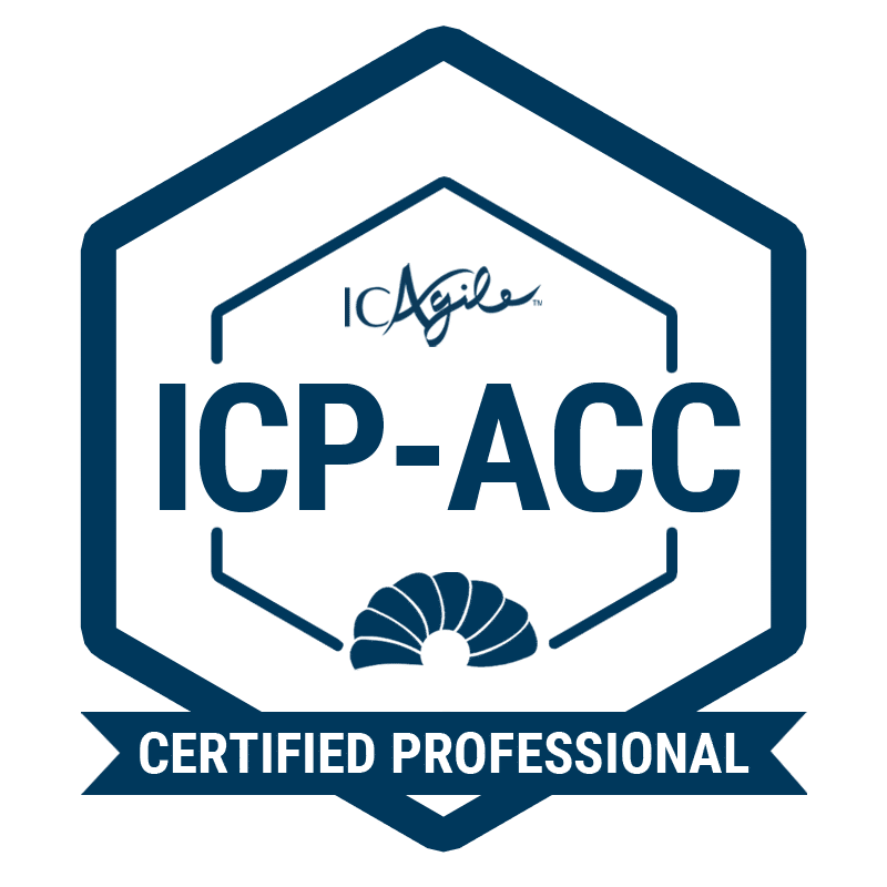 ICAgile Certified Professional in Agile Coaching (ICP-ACC) badge