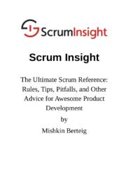 Scrum Insight Book v1.0 - Cover