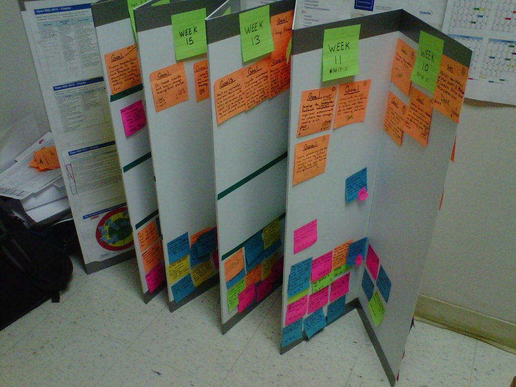 Agile Mining at Suncor - Portable Task Board