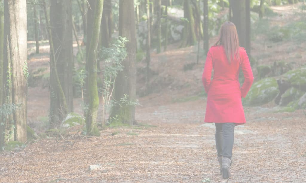 Agile Coach - woman on forest path