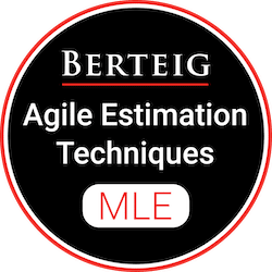 Improve Estimation Effectiveness for Agile Work - Practicing Agile Estimation Techniques (ML-PAET) badge