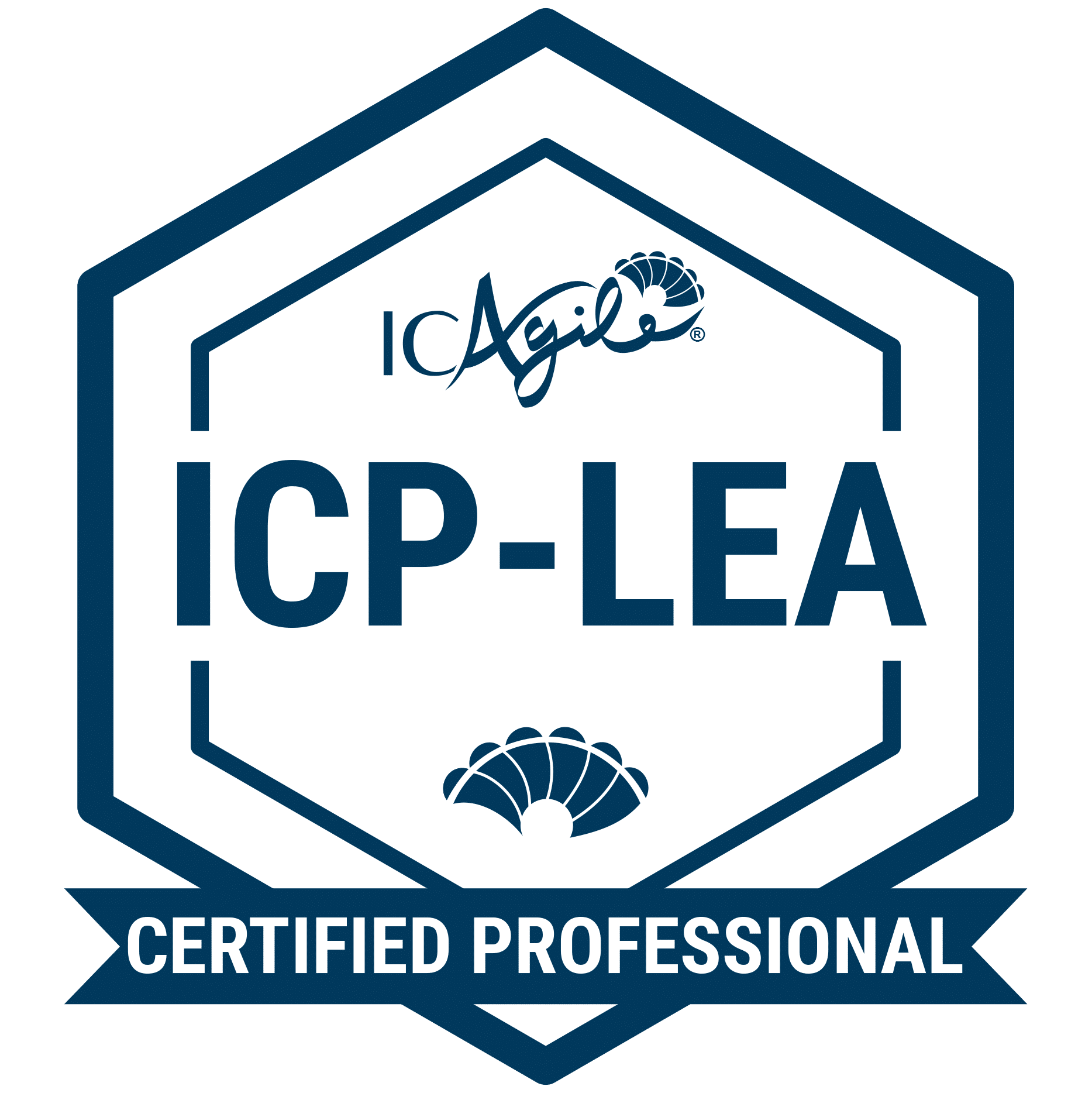 ICAgile Certified Professional in Leading With Agility® (ICP-LEA) badge